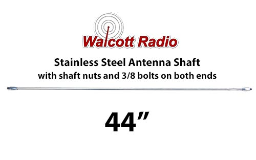 44 Inch Stainless Steel Antenna Shaft with Two Shaft Nuts