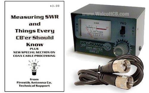 SWR Meter + Coax Jumper + SWR Booklet Bundle