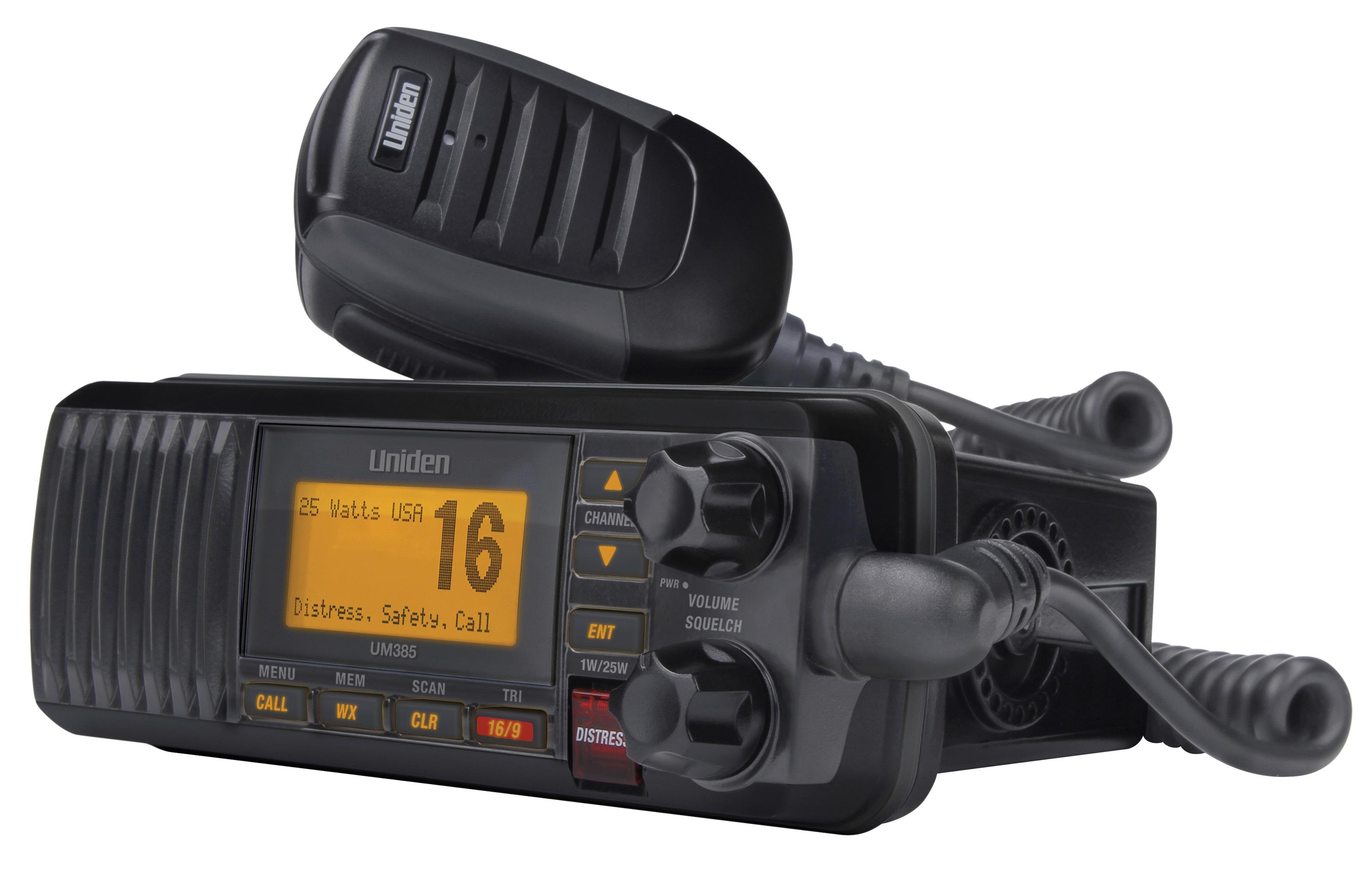 Uniden UM380 Solara D Marine Radio (Black)
