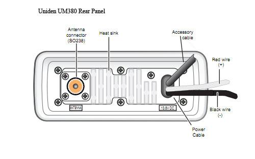 uniden um380 solara d marine radio (black) Dual Marine Radio Wiring Diagram