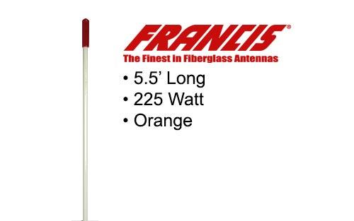 Francis Fiberglass CB Antennas 5.5 Foot CB26 White