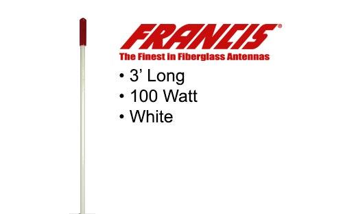 Francis Fiberglass CB Antenna 3 Foot CB22 White