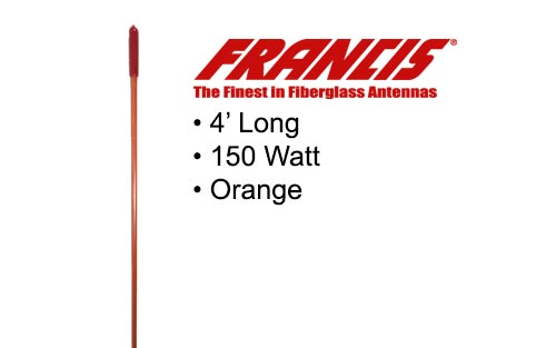 Francis Fiberglass CB Antennas 4 Foot CB24 Orange