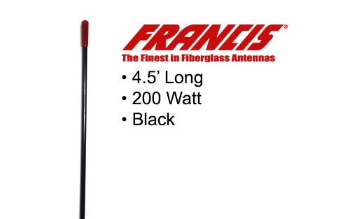 Francis Fiberglass CB Antennas 4.5 Foot CB25 Black