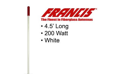 Francis Fiberglass CB Antennas 4.5 Foot CB25 White