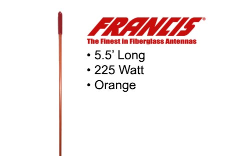 Francis Fiberglass CB Antennas 5.5 Foot CB26 Orange