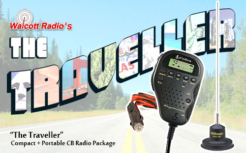 Traveller CB Radio and Antenna Package for Road Trips and Commuting