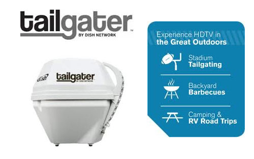 VuQube Dish Tailgater Automatic Satellite TV Antenna