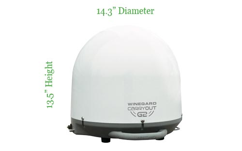 Winegard GM6000 Carryout G2+ Portable Automatic Satellite TV Antenna for Dish, DirecTV, and Bell